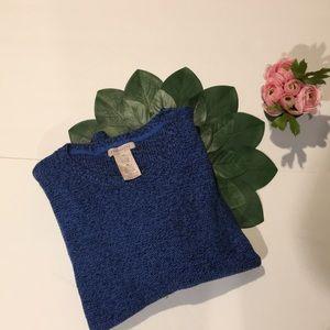 Philosophy crewneck black & blue sweater Sz XXL
